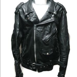 FMC Biker Style Leather Heavy Jacket